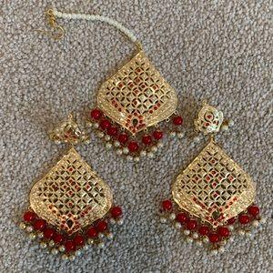 Earrings with head piece